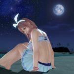 月夜での撮影は白いアクセが映える。心がぴょんぴょんするやつ。